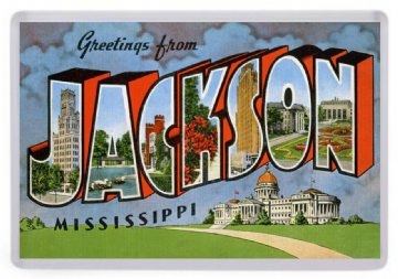 Greetings From Jackson Mississippi Fridge Magnet
